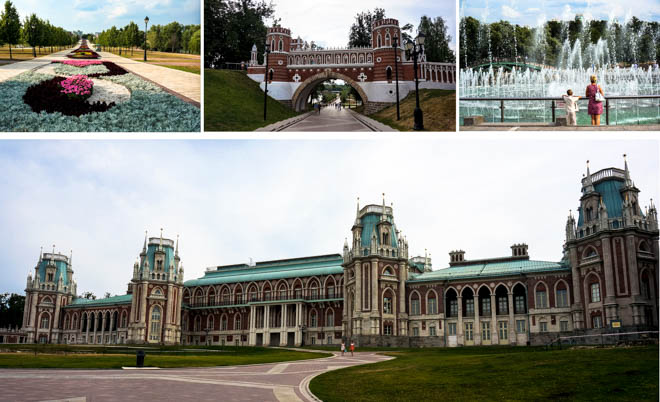 Le parc Tsaritsino à Moscou