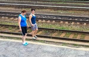 pause sport pendant un arrêt du transsiberien