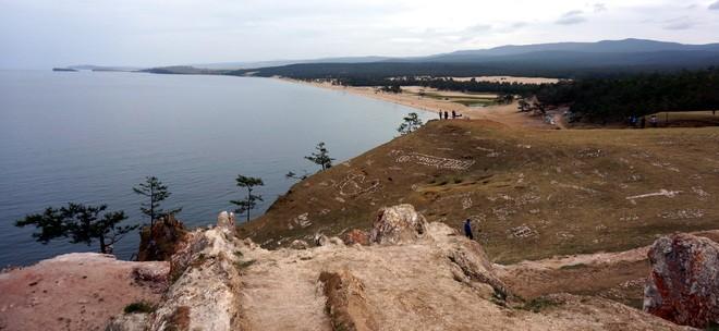 vue du lac baikal sur l ile olkhon