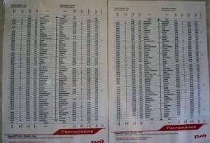 horaires des arrêts dans les gares du transsiberien