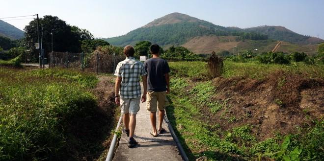 balade dans la campagne autour de hong kong