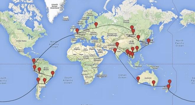 itineraire tour du monde