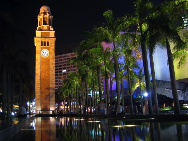 la tour de l'horloge a hong kong