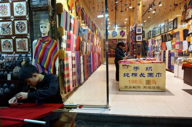boutique dans le quartier musulman xian