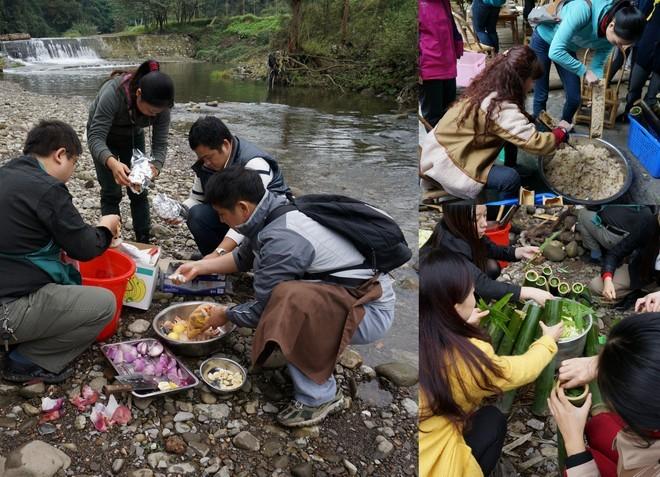 famille cuisine autour du feu woofing chine