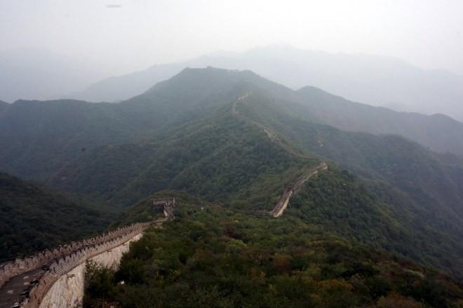 muraille de chine au reveil apres avoir camper