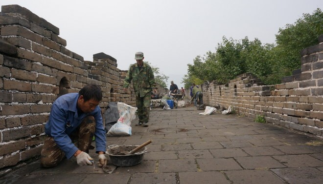 restauration grande muraille de chine