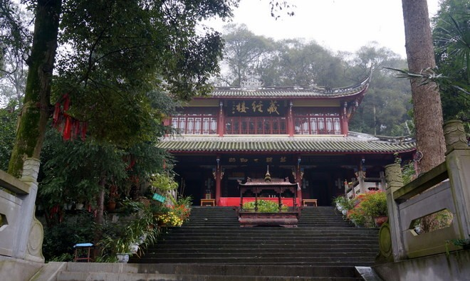 temple dujiangyan woofing chine