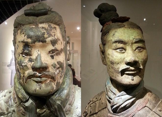 visage different armee de terre cuite xian