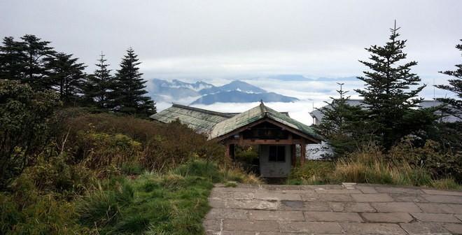 vue au sommet du mont emei