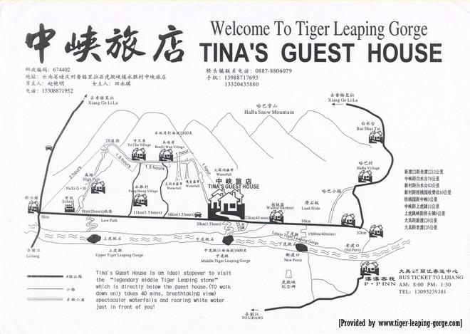 carte des gorges du saut du tigre
