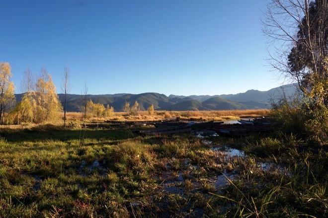 paysage lac lugu sichuan