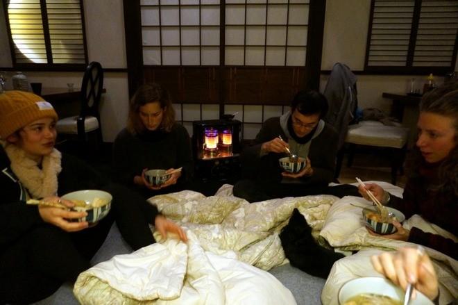 repas couverture chauffante japon hiver