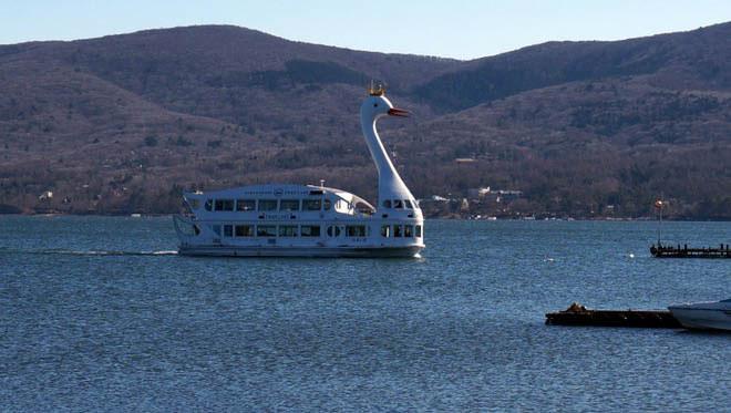 bateau lac Kawaguchi mont fuji