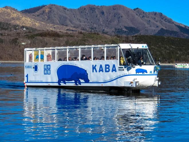 bus amphibie lac Kawaguchi mont fuji