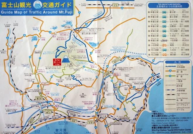carte acces mont fuji depuis fuji