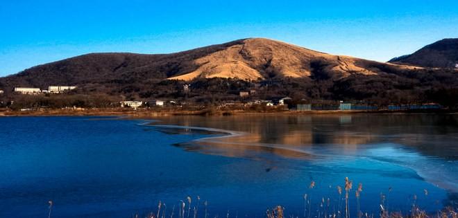 lac Kawaguchi glacé mont fuji