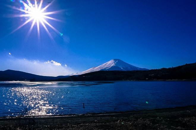 lac Kawaguchi mont fuji japon hiver autostop