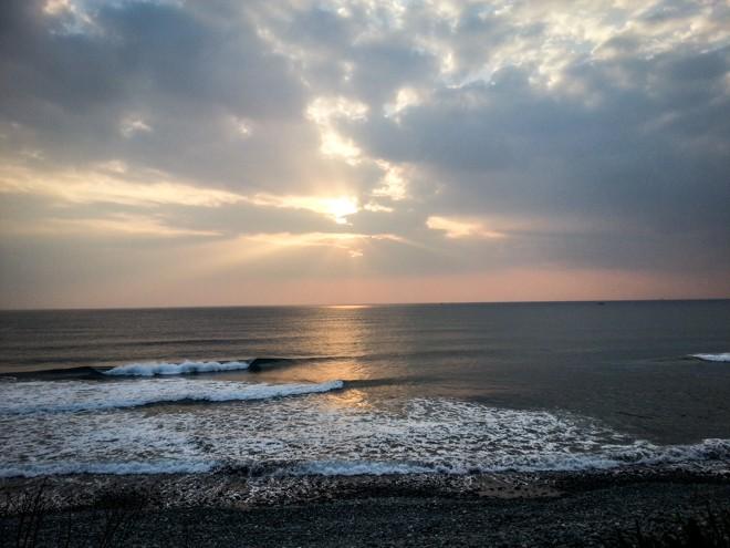 coucher de soleil tour de taiwan a velo