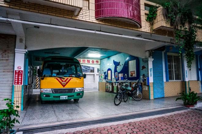 camper dans une école à Taïwan