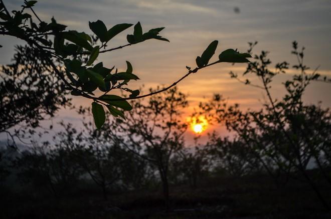 coucher de soleil dans notre volontariat en malaisie