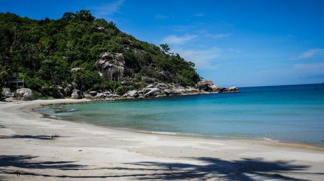 paradise beach koh phangan thailande