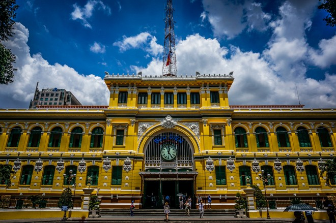 photos Poste centrale de Saigon