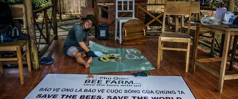 Sauveurs d'abeilles dans un volontariat au Vietnam