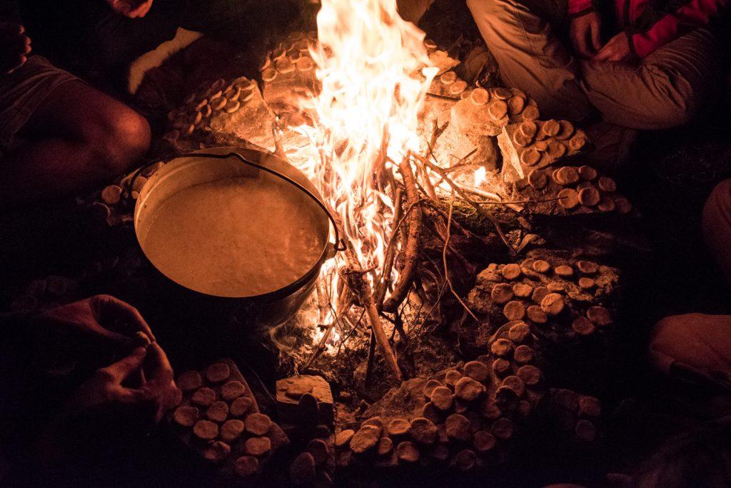 repas du soir vie sauvage et vagabondage